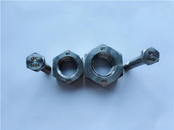 шестигранные болты и гайки из сплава 660, крепежные детали din1.4980