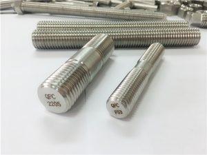 №80-дуплекс 2205 S32205 2507 S32750 1.4410 высококачественный крепеж крепежа деревянный стержень с резьбой якорь