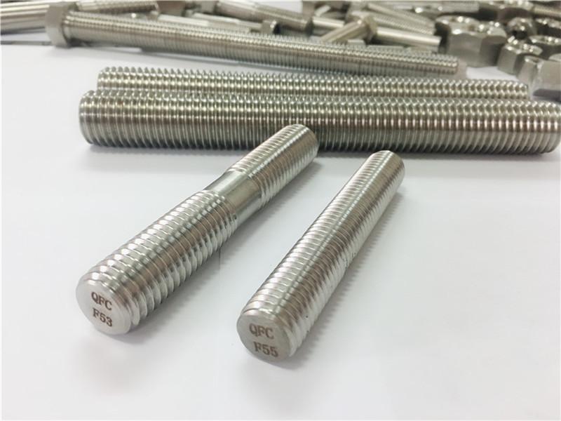изготовленные на заказ автоматические крепежные детали из нержавеющей стали с двойным концом резьбовой стержень
